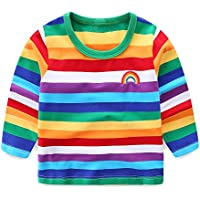 LittleSpring Little Boys Short/Long Sleeve Rainbow T-Shirt 1-8 Years