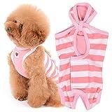 犬猫の服 full of vigor 犬猫の服 full of vigor 獣医師と共同開発 パイルボーダーエリザベスウエア 小型犬用 カラー 6 ピンク サイズ NMLフルオブビガー