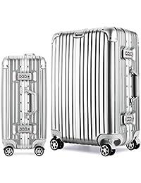 Osonm 耐圧 衝突防止 耐久性スーツケース トラベルバック 機内持ち込みスーツケース機 預け入れスーツケース TSAロック 静音キャスター 海外旅行出張6027