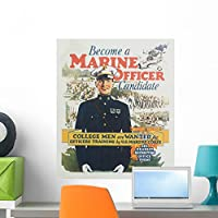Wallmonkeys WM122642 Become a Marine Officer Candidate Poster by Arthur N Edrop Peel and Stick Wall Decals (24 in H x 20 in W) by Wallmonkeys Wall Decals