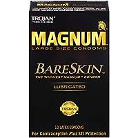Trojan Magnum Bareskin Lubricated Condoms, 10 Count by Trojan
