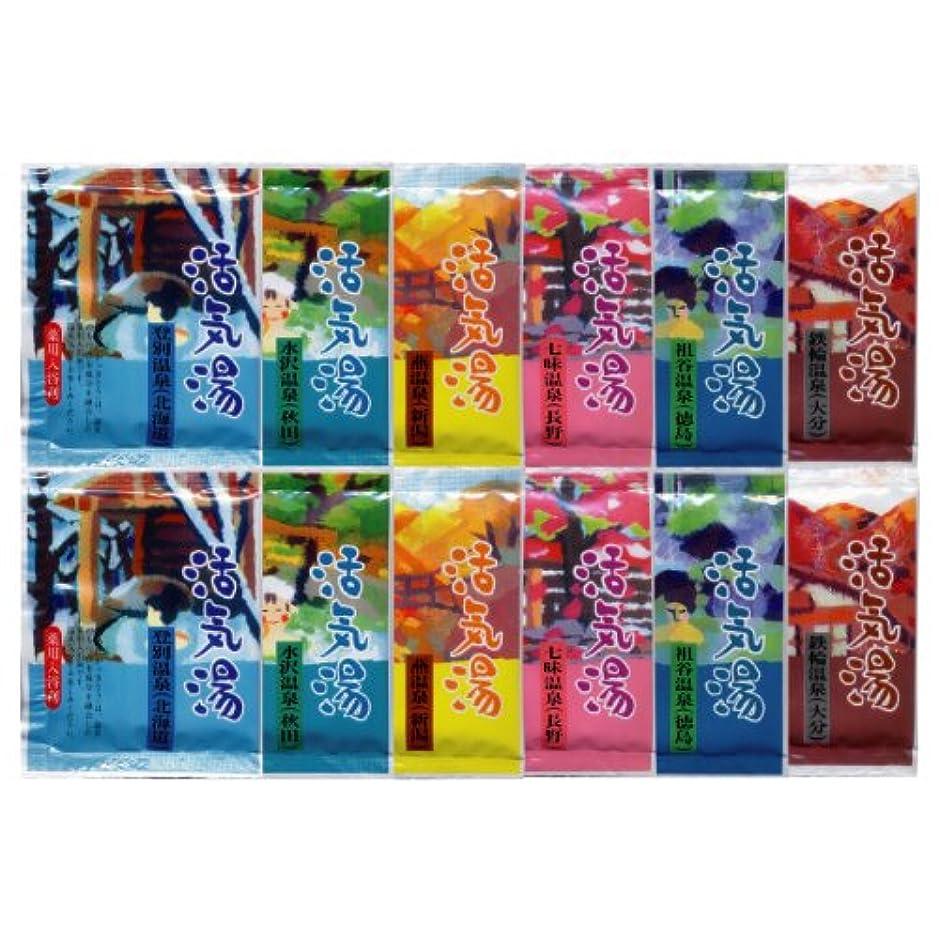 派手受け継ぐマリン薬用入浴剤 活気湯 6種類×2 12包