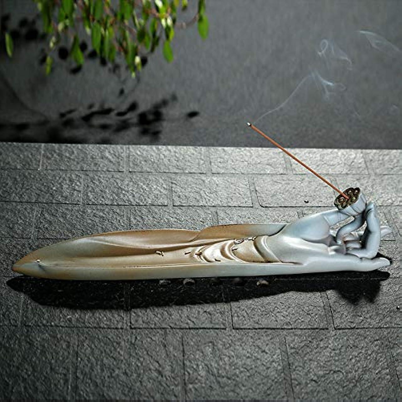 咲く贅沢なパットPHILOGOD 陶器線香 香立て 手作りベルガモットモデリング香炉 香皿 お香 ホルダー