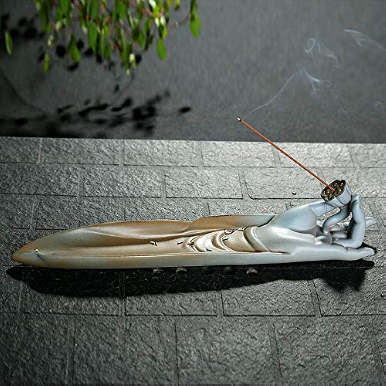 パラシュートホースセッティングPHILOGOD 陶器線香 香立て 手作りベルガモットモデリング香炉 香皿 お香 ホルダー