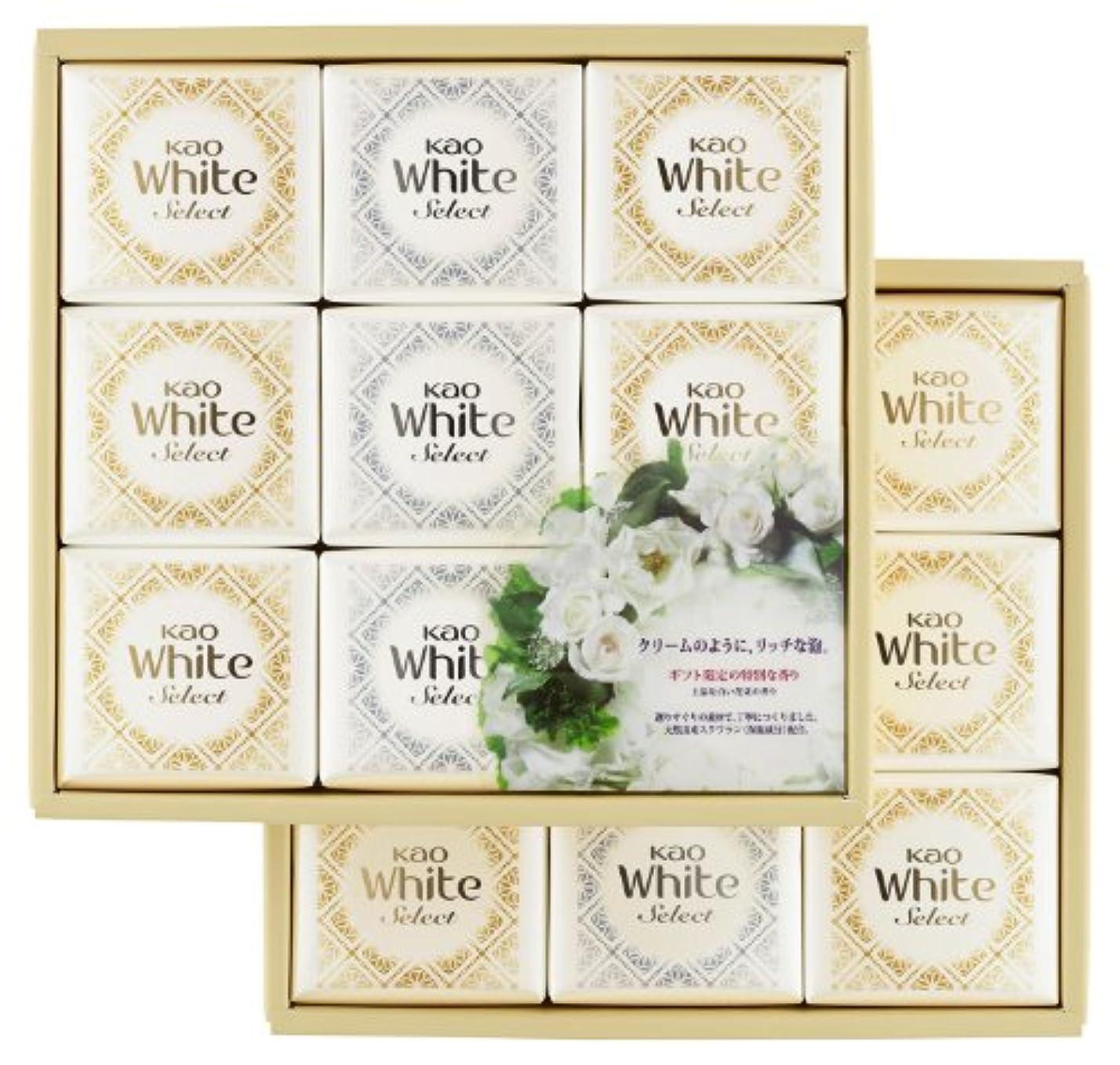 硬いグレー責花王ホワイト セレクト 上品な白い花束の香り 85g 18コ K?WS-30
