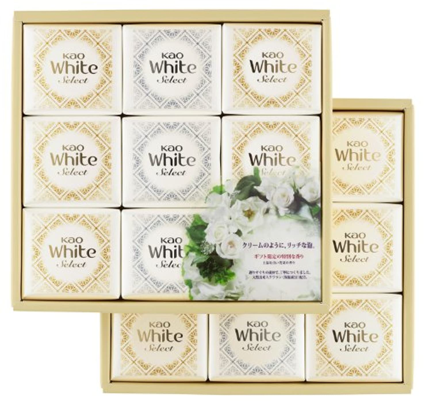 厚い弱いアカデミック花王ホワイト セレクト 上品な白い花束の香り 85g 18コ K?WS-30