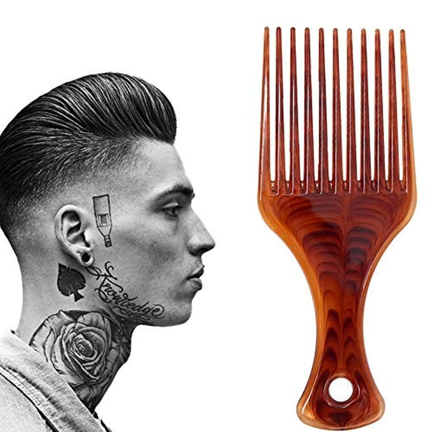 俳優二次決定するLightweight Afro Comb,Amber Afro Pick Hair Comb,Plastic Hair Brushes for Man & Woman Hairdressing Styling [並行輸入品]