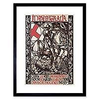 War First World Fritz Boehle In Dea Gratia Germany Framed Wall Art Print 戦争最初世界ドイツ壁