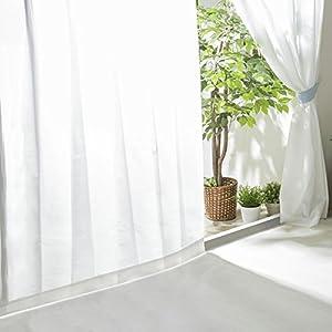 【全30種】レースカーテン UVカット 外から見えにくい 遮熱 洗える 省エネ 幅100cm×丈208cm 2枚組 ホワイト