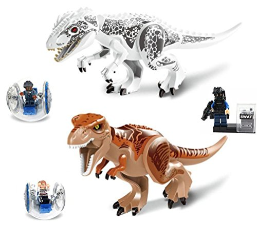 BestMind dinosaur PVC figure set Tyrannosaurus Rex 2 person block model limbs moving mouth opening and closing-friendly toys