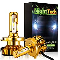 9007/HB5 LED ヘッドライトバルブ 6000K 9V-36V 60W 7200LM V10 シリーバルブ(2個)