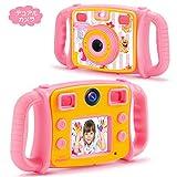 DROGRACE【進化版】キッズカメラ 自撮り可 4倍ズーム 2インチ HD1080P 録画可 40種類フォートフレーム 子供プレゼント 日本語説明書 ピンク