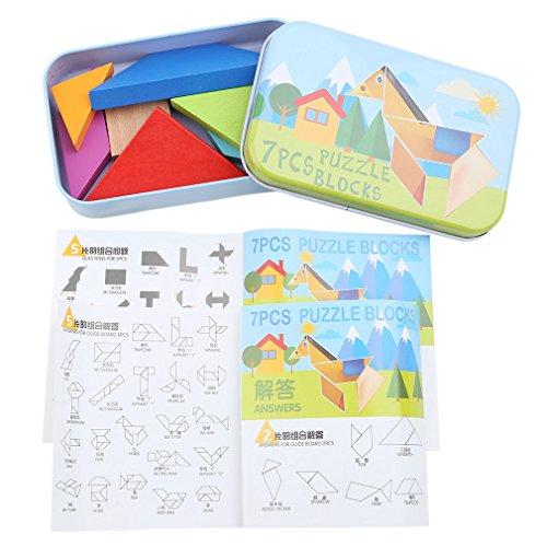 PINKING タングラム おもちゃ 子供 赤ちゃん 知恵の板 木製 組み合わせパズル 知育玩具...