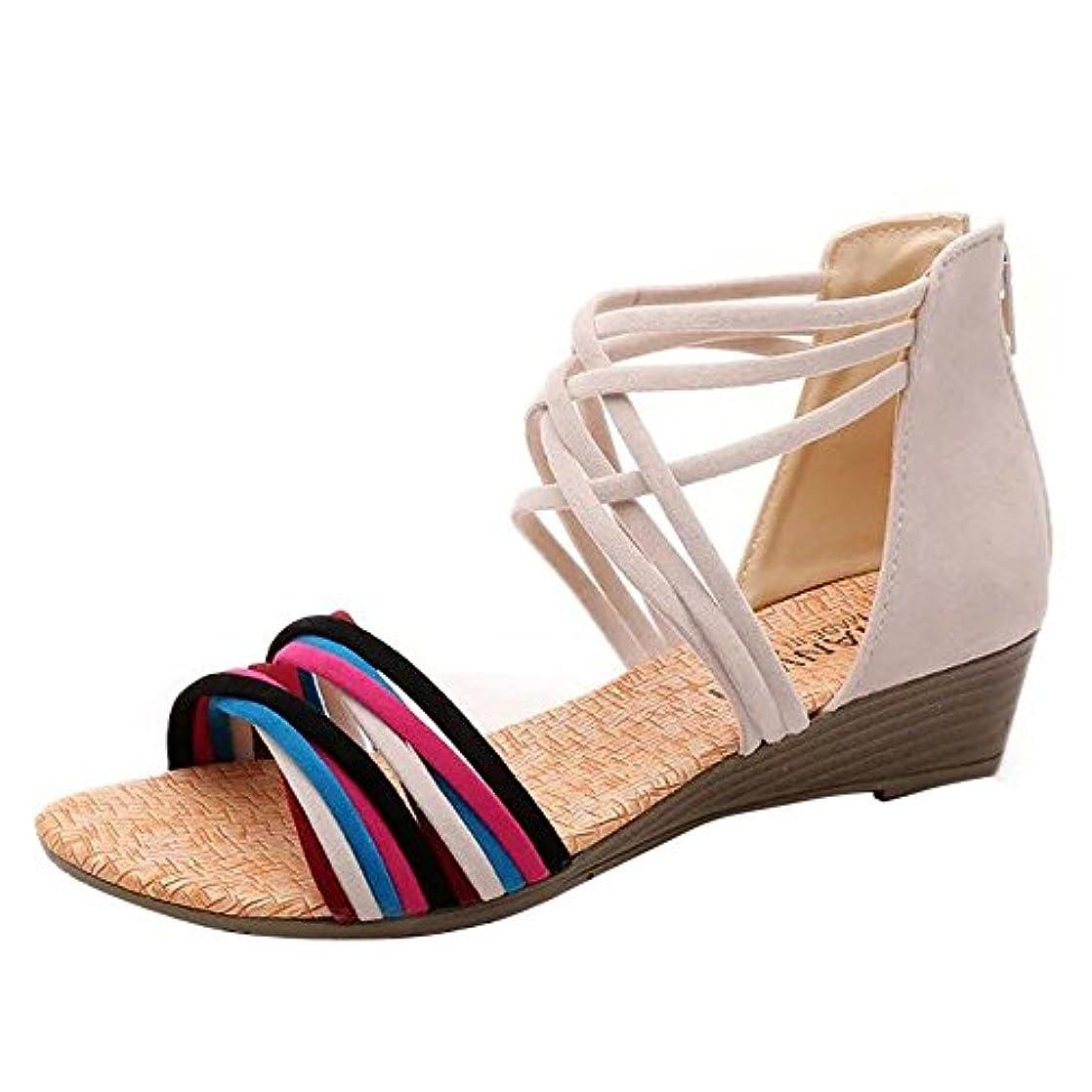 [シューズ Foreted] サンダル フラット アンクルストラップ 美脚 ローヒール おしゃれ 夏 歩きやすい コンフォート ウェッジソール ぺたんこ靴 可愛い フォーマル