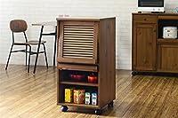 キッチン収納 レンジボード ワゴン キッチンワゴン カラー:ライトブラウン 幅:45cm