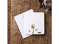 グリーティングカード グリーティングカード封筒封筒ブランケットグリーティングカード古典的な中国のカードフローラルビンテージ印刷(フラワーバド)