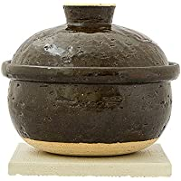 伊賀焼窯元 燻製土鍋 いぶしぎん ミニ 直径:185mm