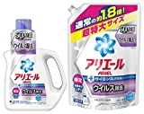 「アリエール 洗濯洗剤 液体 イオンパワージェル サイエンスプラス ウィルス除去 本体 900g + 詰替用 超特大サイズ 1.27kg」の画像
