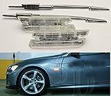 KUWAN®LED クリアサイドマーカーライト ウィンカー BMW M E90 E91 E92 E93 E81 E88 E60に適用