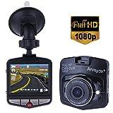 改良版ダッシュ・カムデジタルCar DVR ドライビング ビデオレコーダーフルHD 1080P 日本語説明書付き 2.5インチ140度広角G-センサー搭載' 駐車監視 動き検知 (Black)
