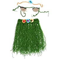 Domybest ベビー服 3点 写真服 ニット 0-6ヶ月 グリーン ハワイアンスカート 男の子 女の子 柔らかく快適 かわいい 写真小道具 出産祝い 百日記念