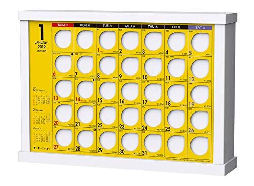 トライエックス 卓上 100円ずつ貯めるカレンダー 2019年 カレンダー CL-593 卓上 19×26cm 貯金箱