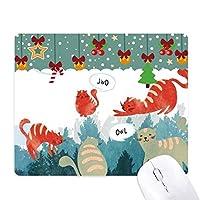 おしゃべりふくろうペットと動物の恋人を守る ゲーム用スライドゴムのマウスパッドクリスマス