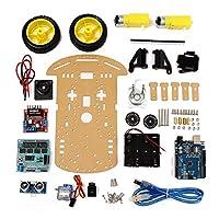 Prament 追跡モータースマートロボット車シャーシキット2wd 超音波 Arduino MCU -
