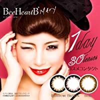 カラコン ビーハートビー メアリー 1箱 30枚 1日 1day ブラウン × ブラック【PWR】-8_00