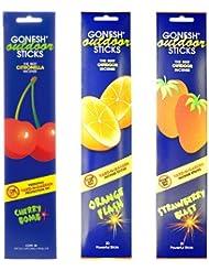 ガーネッシュ GONESH お香スティック アウトドア 3つの香りが楽しめる3個セット