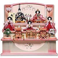 【雛人形】【雛人形収納飾】収納雛小三五親王小芥子官女:美桜雛:美光作【収納雛】【親王飾】