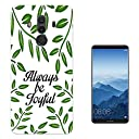001735 - Inspirational Quote Always Be Joyful Green Plants Boarder Design Huawei Mate 10 6.0 Gel ファッショントレンド スマートフォンケース カバー