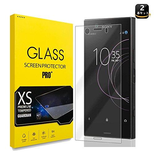 【2枚セット】Sony Xperia XZ1 ガラスフィルム 強化ガラス(日本旭硝子制造材质) 全面保護 9H硬度 超薄 耐衝撃 自動吸着 3Dラウンドエッジ加工 気泡レス 高透過率 高感度 指紋防止 貼付けやすい