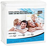Premium Hypoallergenic Waterproof Mattress Protector - Vinyl Free - Fitted Mattress Cover (Cal King) by Utopia Bedding