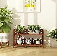 フラワースタンド 花の棚の多層屋内の木のバルコニーの居間フロアの棚のセット植物のラック植物の鍋のラック (Size : L50*W25*H52CM)