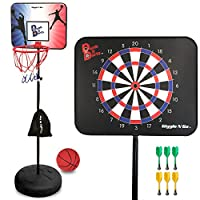 DunkitダーツMagnetic Dart Board and Basketball Game – 2 Fun Kids Games in 1。So Easy高さを調整する、子供Your Will文字通りGrow Up with It。A FunセーフAddition to AnyインドアBoysゲーム部屋