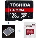 東芝 Toshiba 超高速U3 4K対応 microSDXC 128GB + SD アダプター + 保管用クリアケース [並行輸入品]