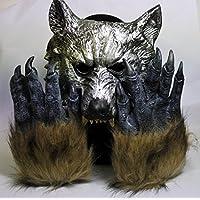 櫻文庫 狼男 コスプレ 2点 セット マスク+グローブ 仮装 小道具