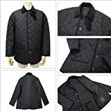 メンズ キルティングジャケット 7163E QT04 WAVERLY ウェイバリー ナイロン ブラック BLACK02 マッキントッシュ画像②