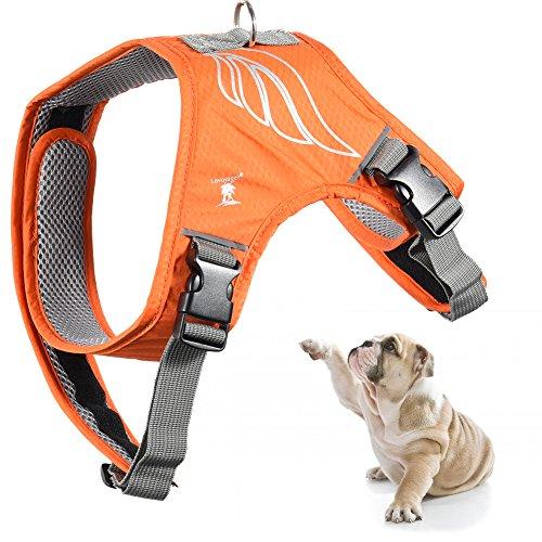 Petacc 犬用ハーネス 犬用胴輪 M反射材料 ポリエステル製 通気性メッシュデザイン