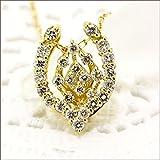 ダイヤモンド ネックレス 馬蹄 ネックレス ホースシュー ネックレス ダイヤモンドネックレス ダイヤ ネックレス K18 18金 18K イエローゴールド YG ピンクゴールド