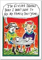 Giving ThanksクリスマスJoke用紙カード 12 Christmas Card Pack (SKU:B1596)