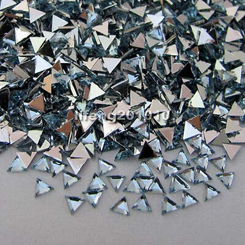 未満惑星パウダーFidgetGear 10000ピーストライアングル3Dアクリルネイルアートデコレーションフラットバックラインストーン宝石