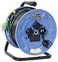 日動 ディーバ デジタル電工ドラム 屋外型 過負荷漏電保護兼用 100V専用 電線長30m 取寄品 NPDMW-EK33