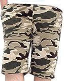 (バルセドス)BARCEDOS ショートパンツ メンズ 迷彩 ミリタリー スウェット ハーフパンツ 6color LL 柄B