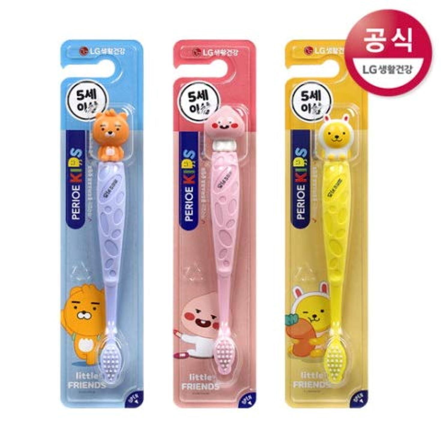 底大学定常[LG HnB] Pero Kids Cocoa Figure Toothbrush/ペリオ子供カカオフィギュア歯ブラシ 1口x3個(海外直送品)