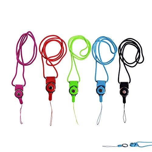 yueton Pack of 50 Colorful Long Neck Strap Band Lanyard for Camera Cell Phone iPod Mp3 Mp4 PSP Wiimote ID Card Badge Name Tag Holders and Other Electronic Devices