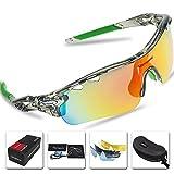 スポーツサングラス 偏光レンズ VICTGOAL 5枚専用交換レンズ ロードバイク 自転車uv400 紫外線カット メンズ レディース ユニセックス サングラス (透明)