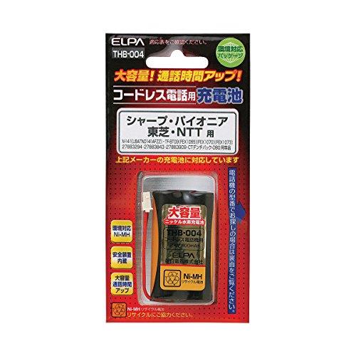 ELPA エルパ コードレス電話用 大容量充電池 THB-004