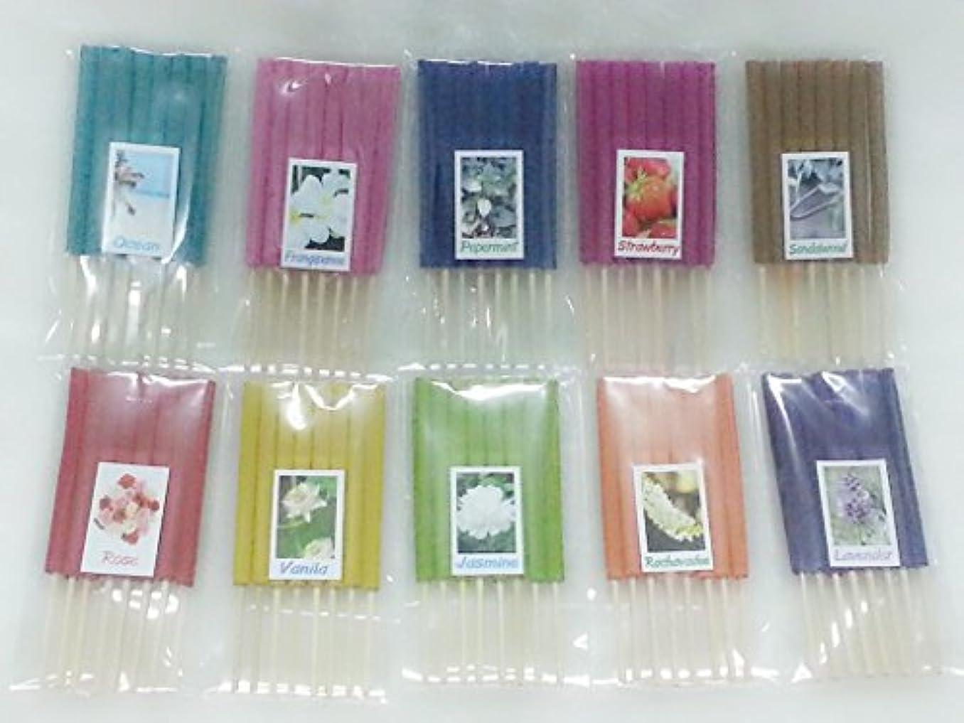 うぬぼれた看板植物学セット2 Mixアロマ10 Scents 80 Sticks Mini Incense Sticks Thai Spaアロマセラピーホームのハーブ&香料、長さ3インチ